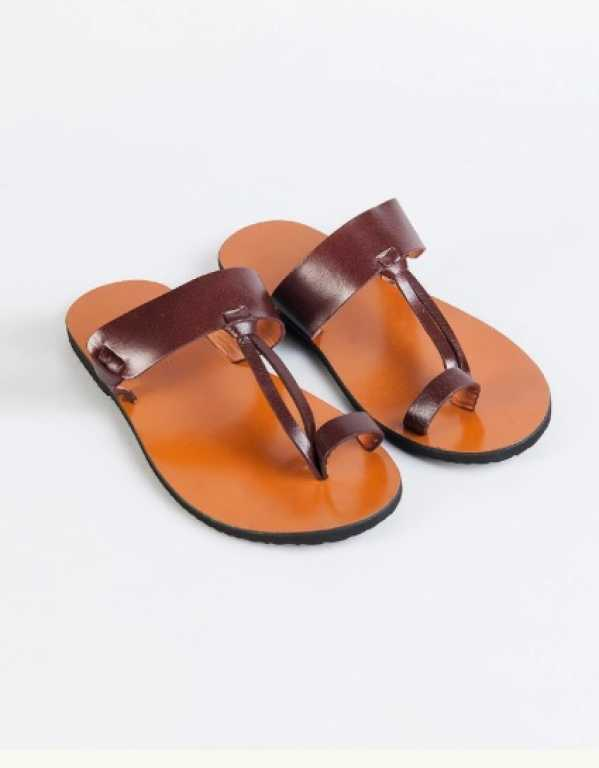 Brown Leather Chappals, Fab India; Rs. 1,970