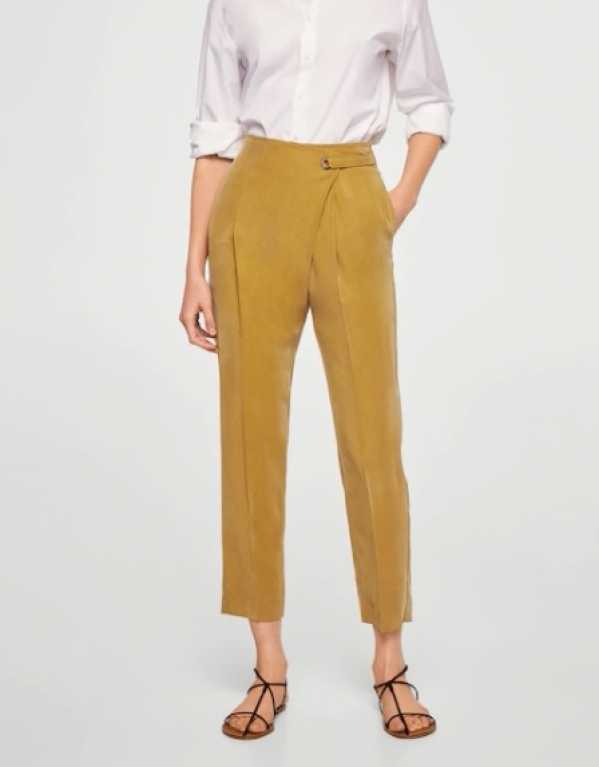 Wrapped Baggy Trousers, Mango. Rs. 3490