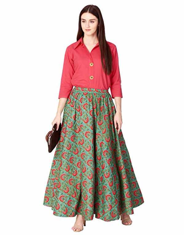 5) Cotton Top With Long Skirt