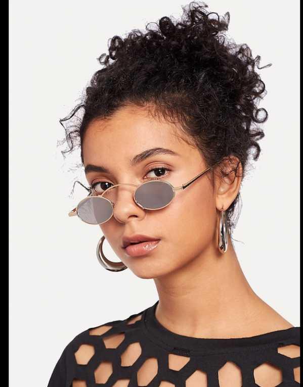 1. Top Bar Oval Lens Sunglasses