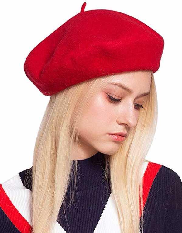 2) Wool Felt French Classic Beret Beanie Slouch Hat Cap
