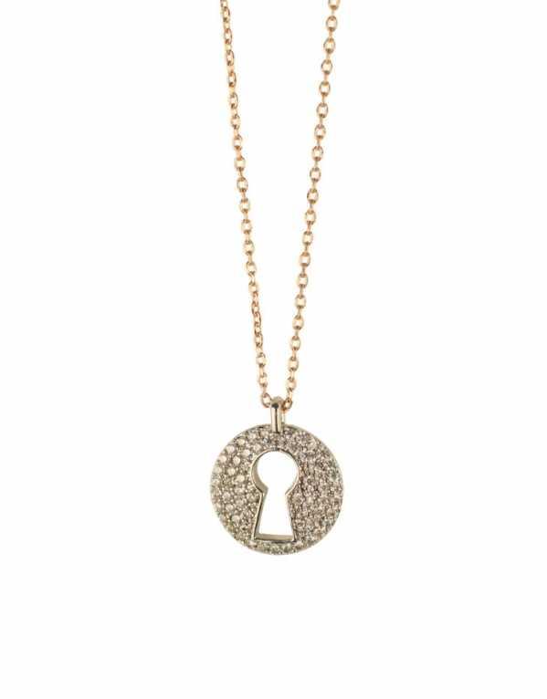 Key Hole Necklace Charm; Loco Latte, Rs.804