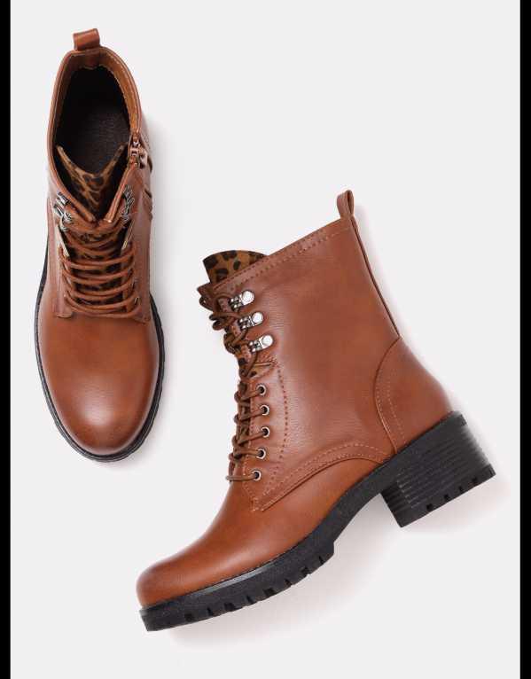 3) Tan Boots