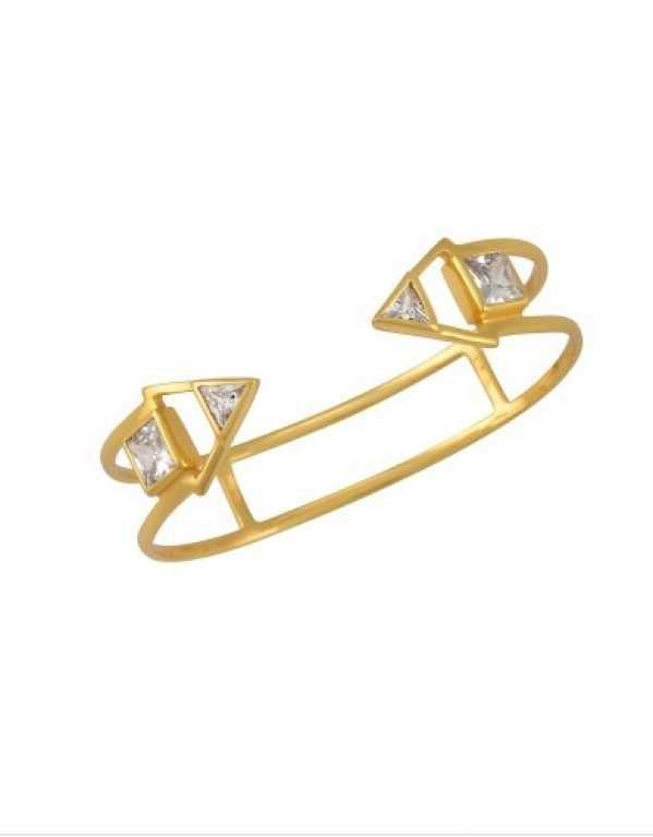 Square Triangle Zircon Hand Cuff; Amrapali, Rs.2100