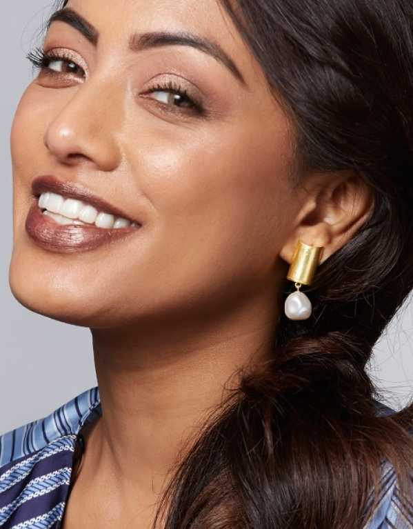6. Clarion Earrings Embellished With White Swarovski Pearls