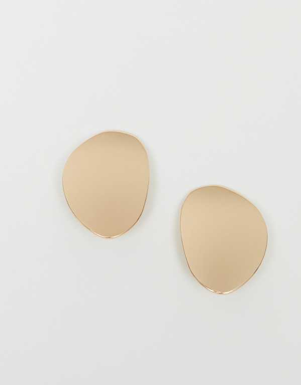 Gold Coured Solid Earrings; H&M, Rs. 699