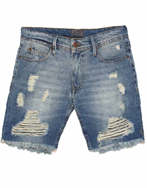 Ripped Denim Bermuda Shorts, Zara, Rs. 2,490