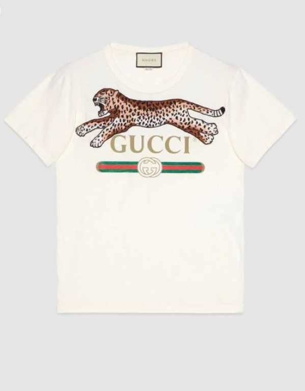 Logo T-shirt With Leopard, Gucci, Rs.48, 032