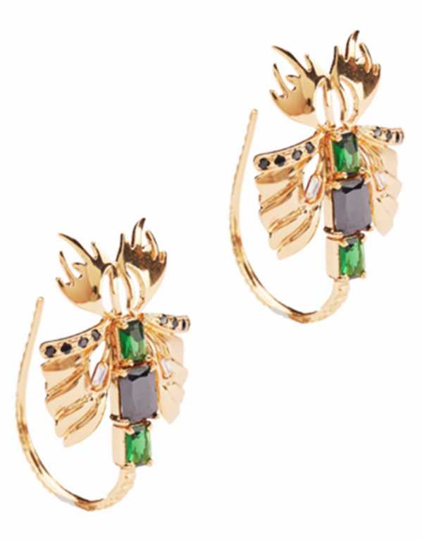 Sylphina Hoop Studs, Outhouse, Rs. 7,250