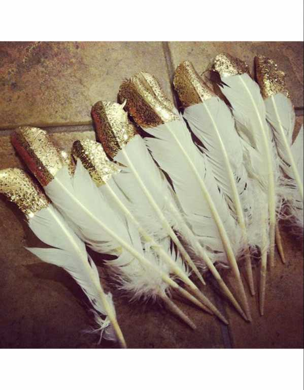 Glittery Feathers
