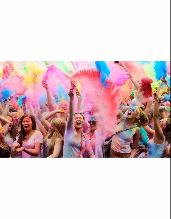 2) Holi India Colour Festival