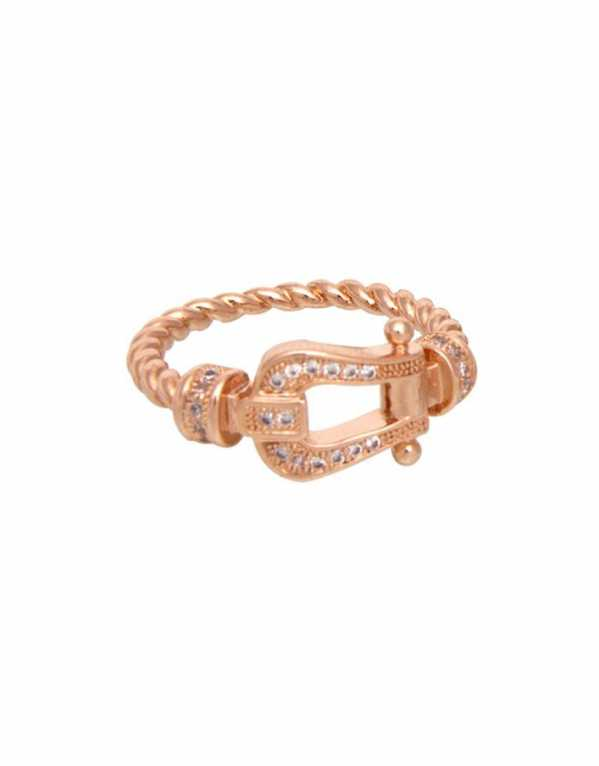 Equestrian Buckle Ring; Loco Latte, Rs. 709