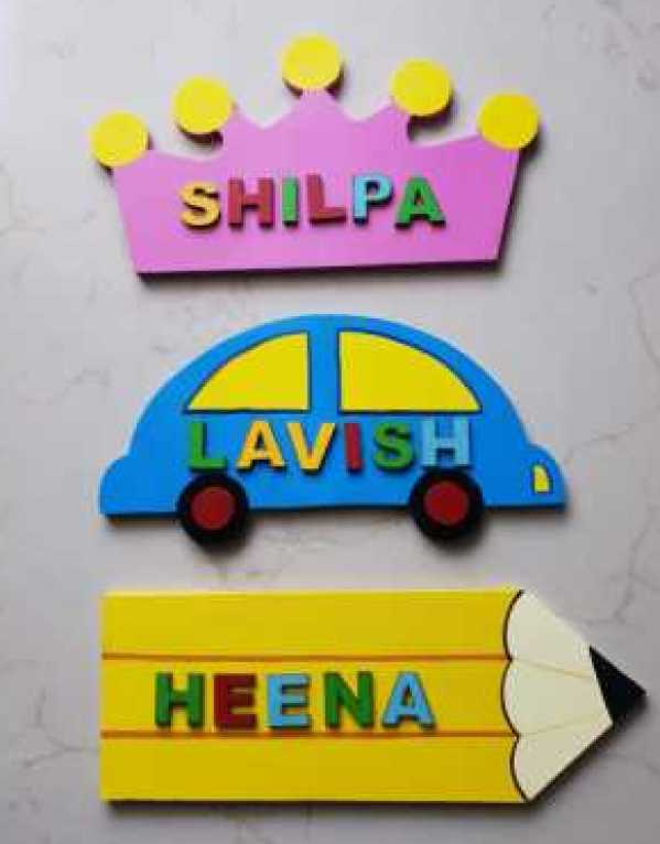 Name plates for kids