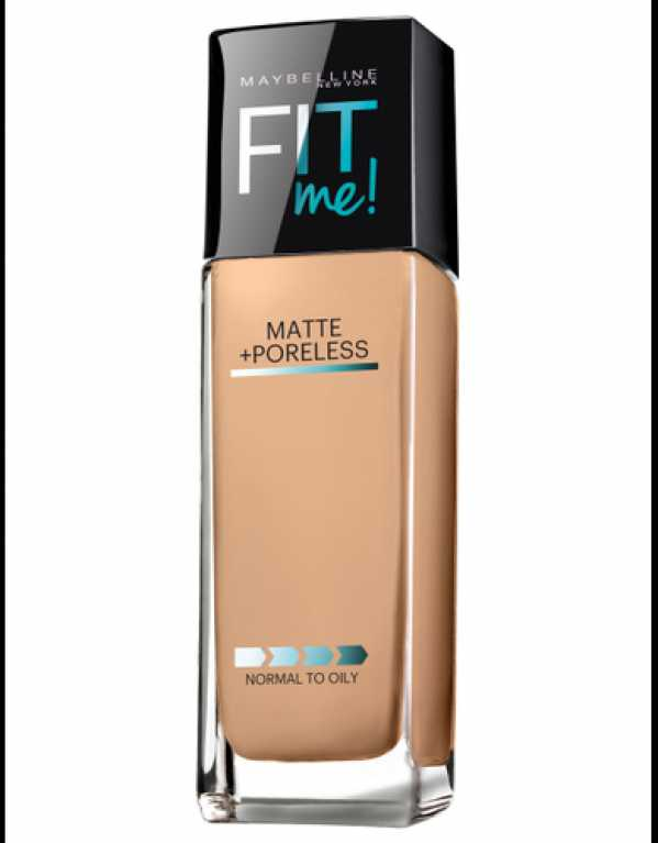 3) Maybelline New York Fit Me Matte+Poreless Liquid Foundation
