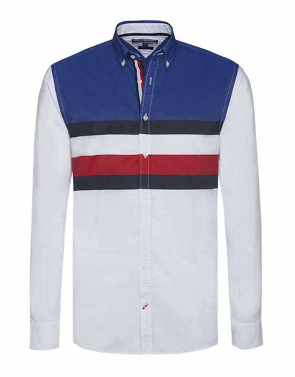 Global Stripe Colour Block Shirt, Tommy Hilfiger; Rs. 8,267