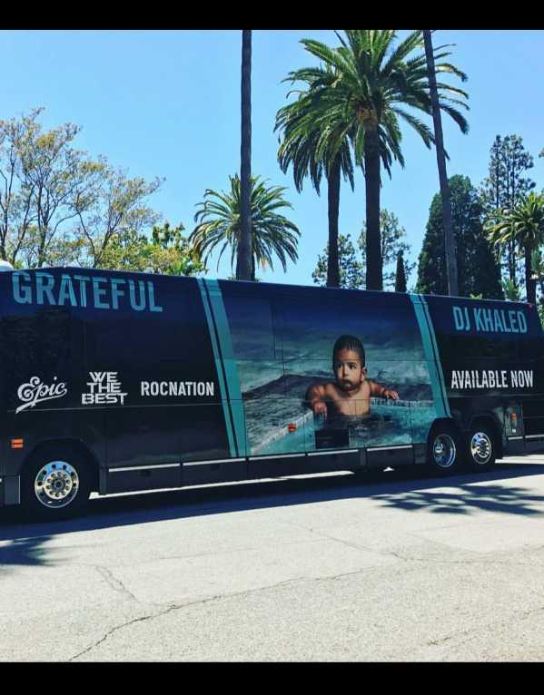 Across DJ Khaled's tour bus
