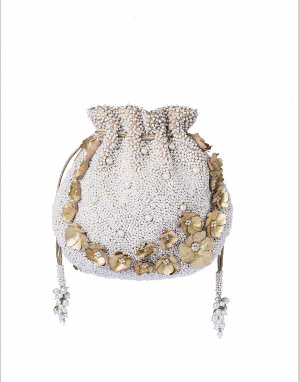 Ivory Rhea Pouch,LoveToBag by Ayushi, Rs. 5900