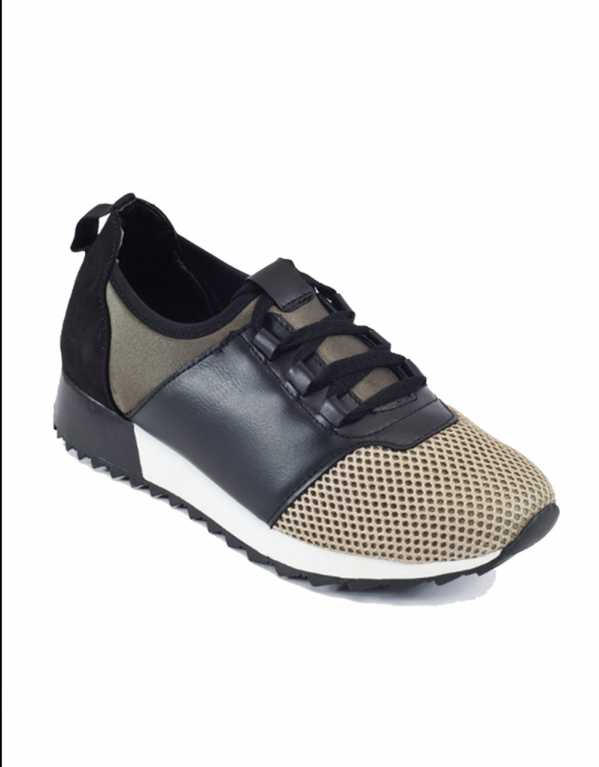 Multi Lace-up Mesh Trainers, Truffle Collection, Rs.2,999