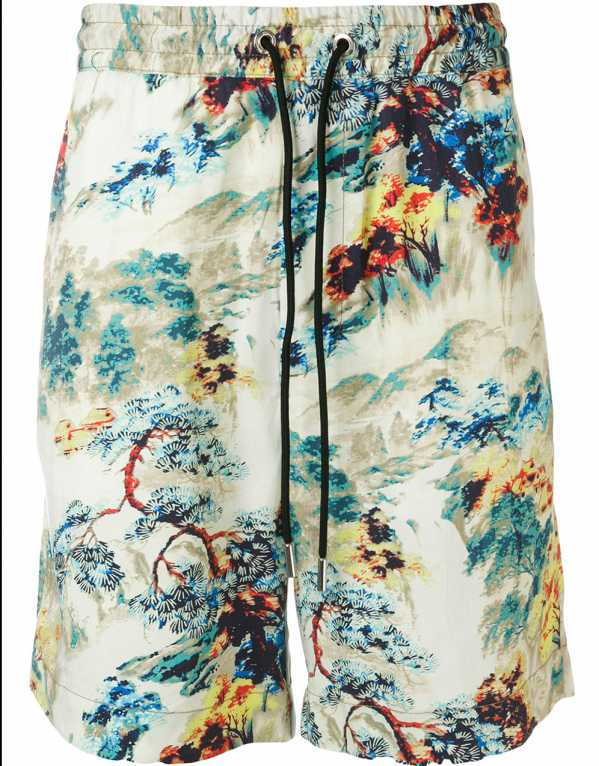 High Waisted Printed Shorts, Diesel, Rs. 9,592