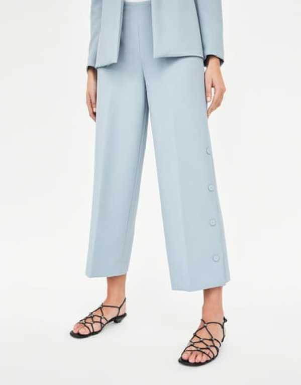 Blue Culottes with Lined Buttons, Zara, Rs. 2590