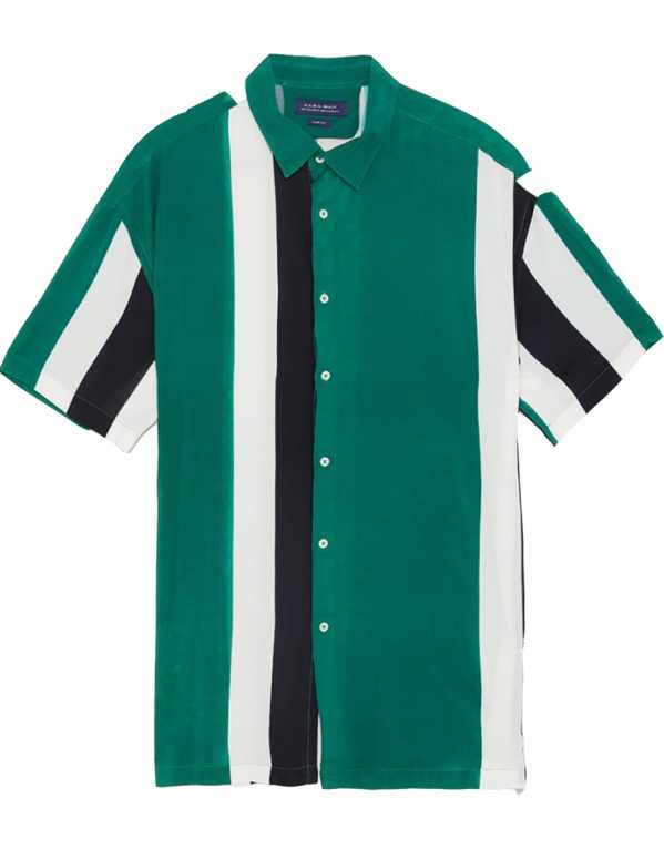 Colour Block Shirt, Zara; Rs. 1,990