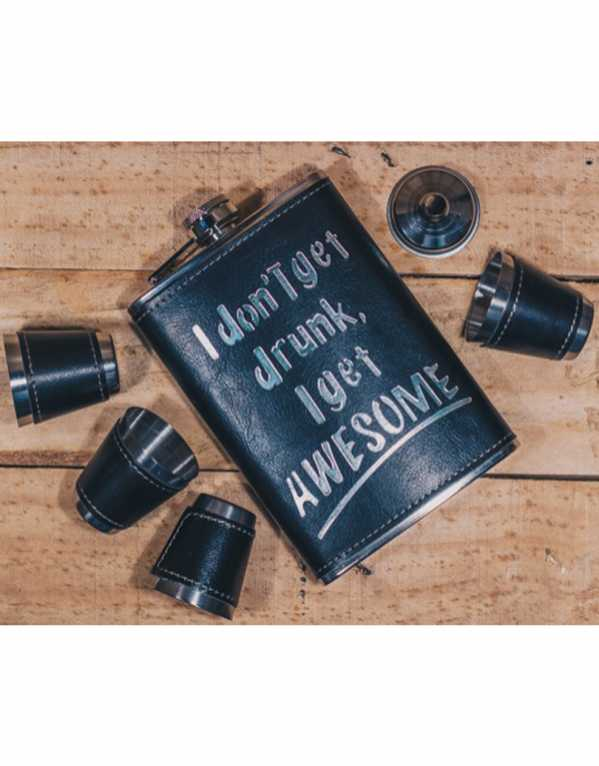 … Or an Awesome Flask Set! Face it! Drunken nights wouldn't be as much fun without your awesome better half!