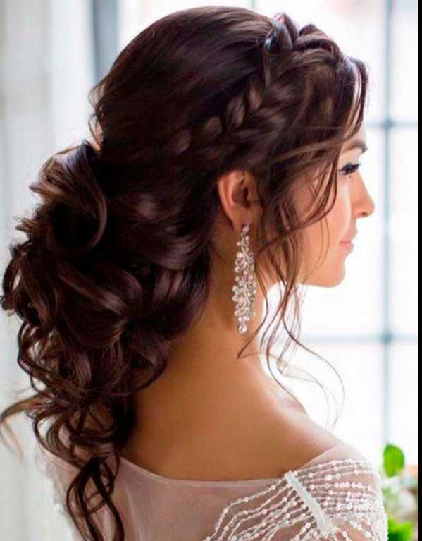 You could also give your loose waves a Grecian twist like this one for the engagement.