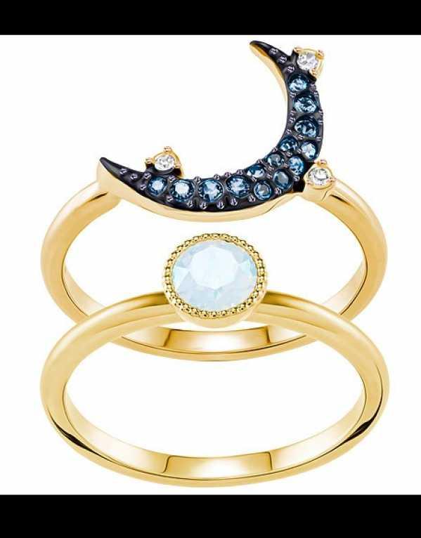 Swarovski Duo Moon Ring; Rs.7,090