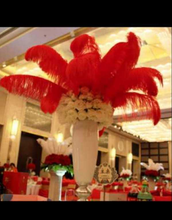 Natural Ostrich Feathers Party Wedding Decoration