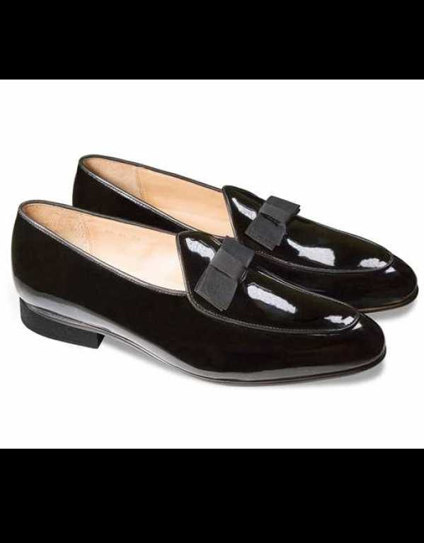 Black Patent Loafers, Herringbone & Sui, Rs. 11,500