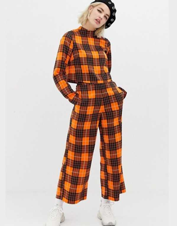Collusion Wide Leg Trousers in Checks, ASOS; Rs. 2420