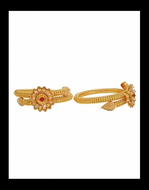Babosa Sakhi Indian Polki Bangle Gold Plated Bollywood Kara