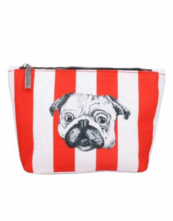 Pug Print Pouch by Paint & Tonic