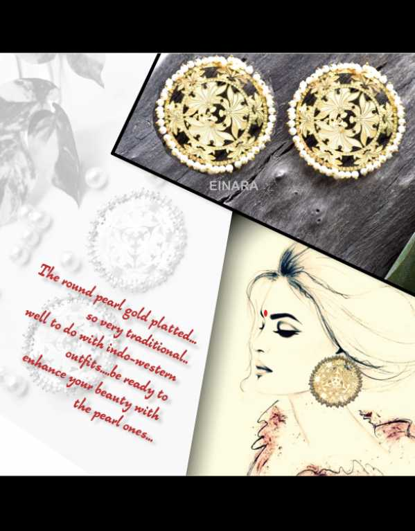 The round pearl earrings