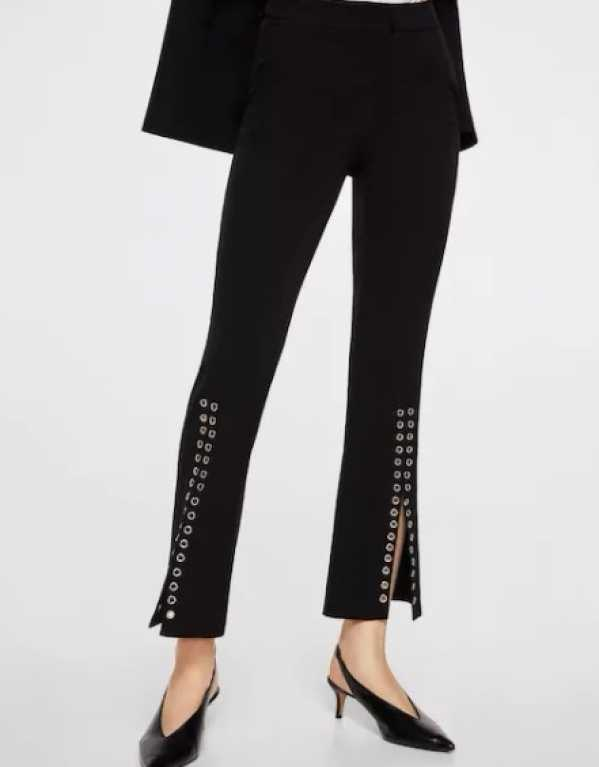 Ring Straight Trousers, Mango, Rs. 4590