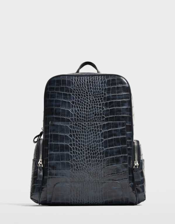 Reptile Effect Leather Embossed Bag, Zara, Rs. 4990