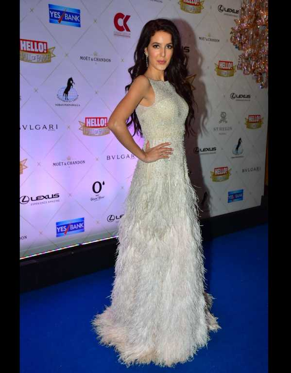 Isabelle Kaif carrying off the tassels with aplomb in a Shriya Som gown