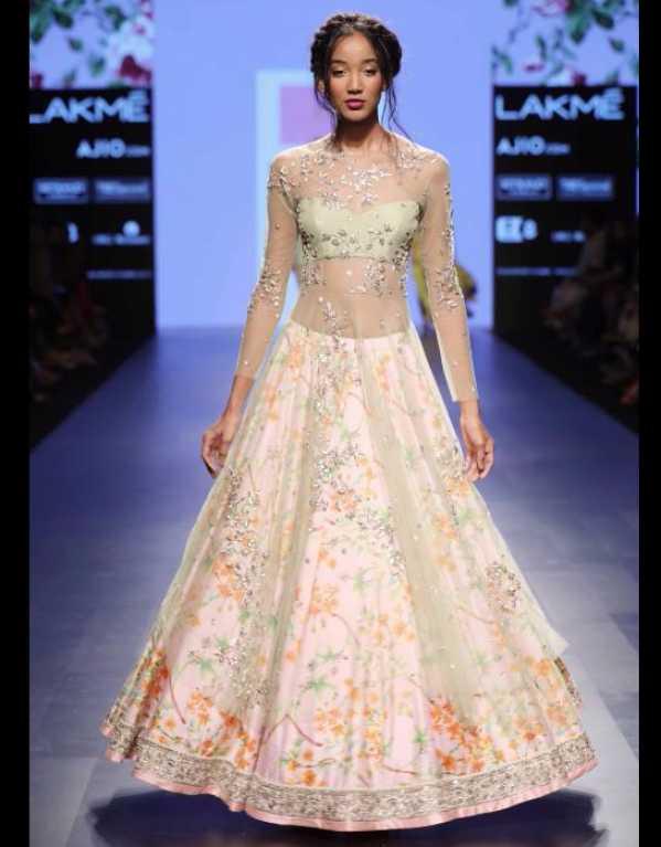 Anushree Reddy at Lakme Fashion Week SR'17