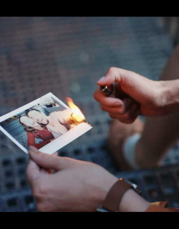 3) Win Free Shots by Burning your ex's pictures!