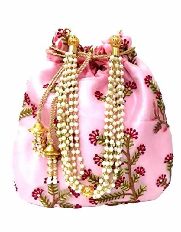 1) Polti Bag with Pearl Handle and Tassel