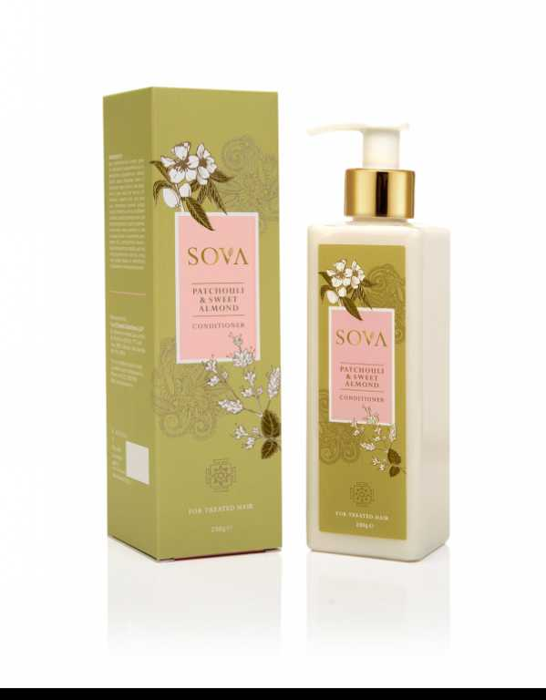 SOVA PATCHOULI & SWEET ALMOND CONDITIONER FOR TREATED HAIR