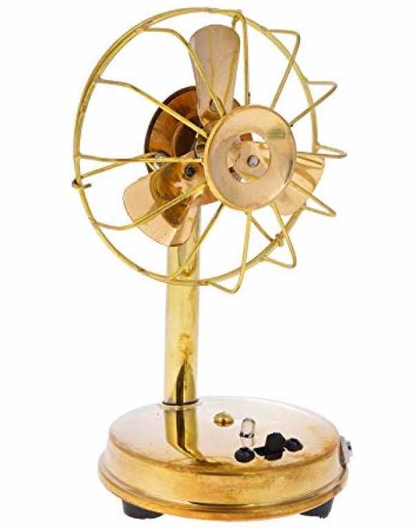 4. Prosmart Antique Brass Fan