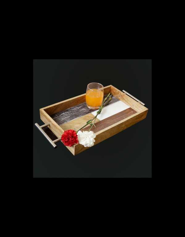 Elegant Handmade Wooden Tray for Serving/breakfast.