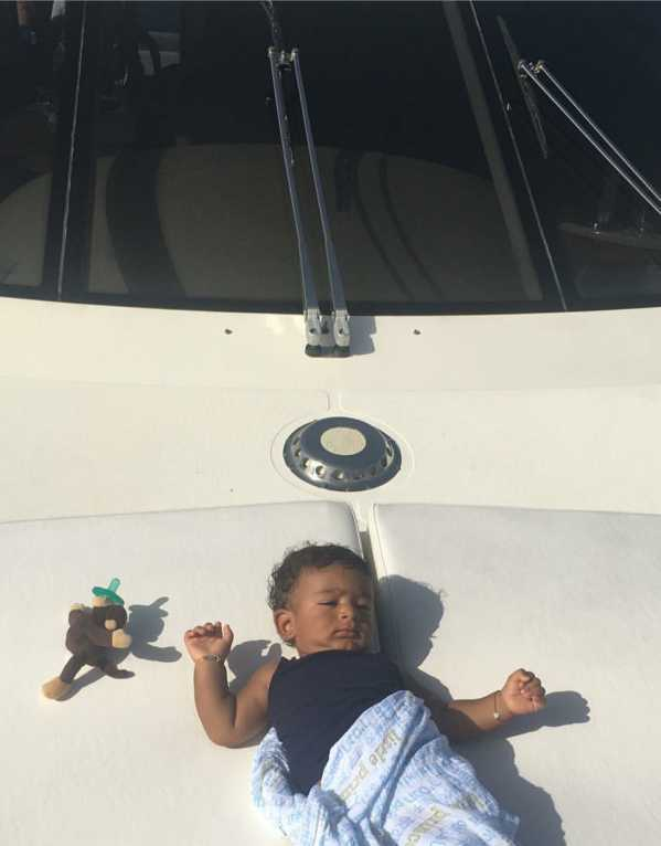 Just another day, sunbathing on a yatch!