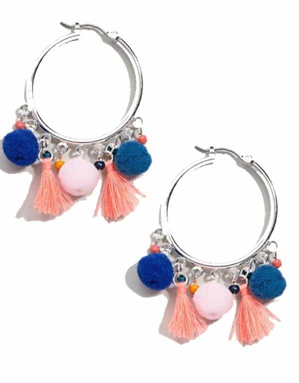 Mini Pom-Pom and Tassel Earrings, ASOS, Rs.544