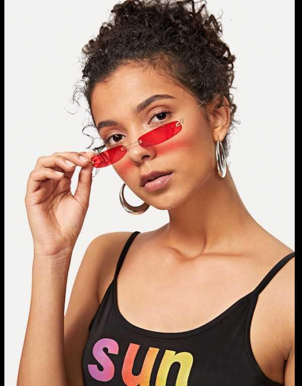 5. Rimless Oval Sunglasses