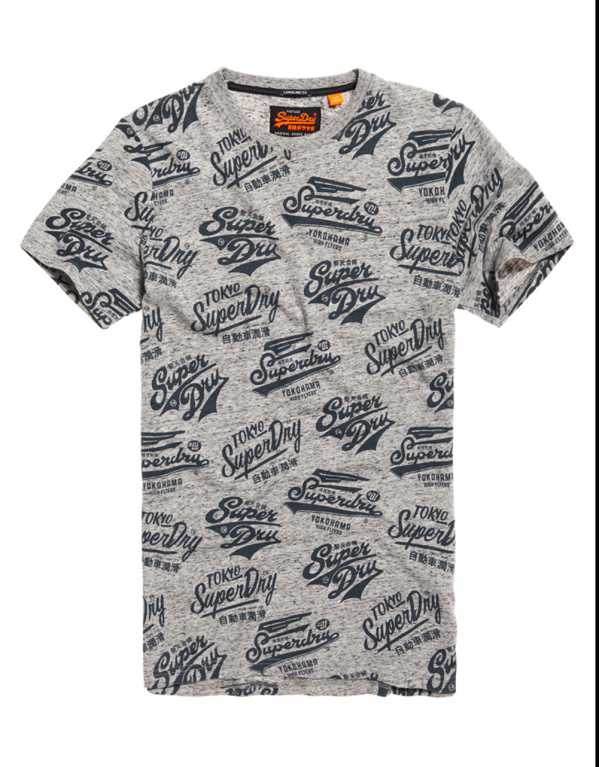 Triple Logo All Over Print Long Line T-Shirt, Superdry, Rs. 3,603