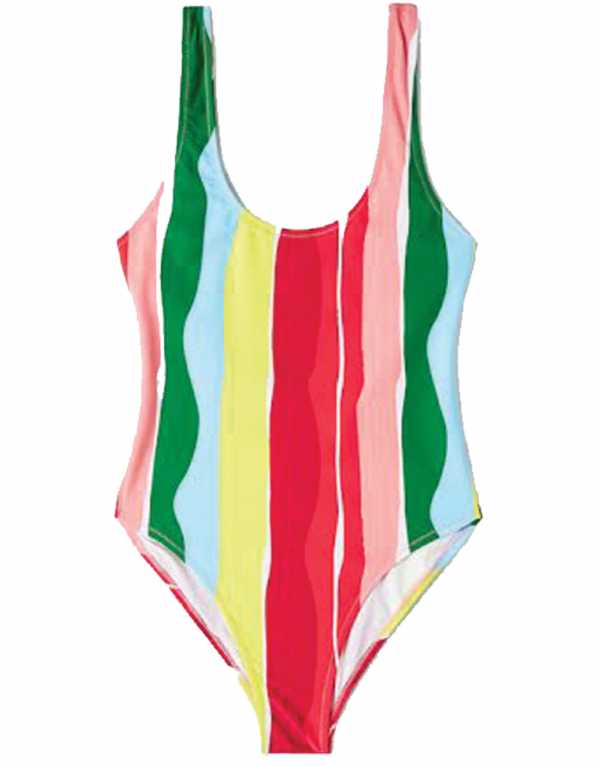 Striped Swimsuit, Mango, Rs. 3,990