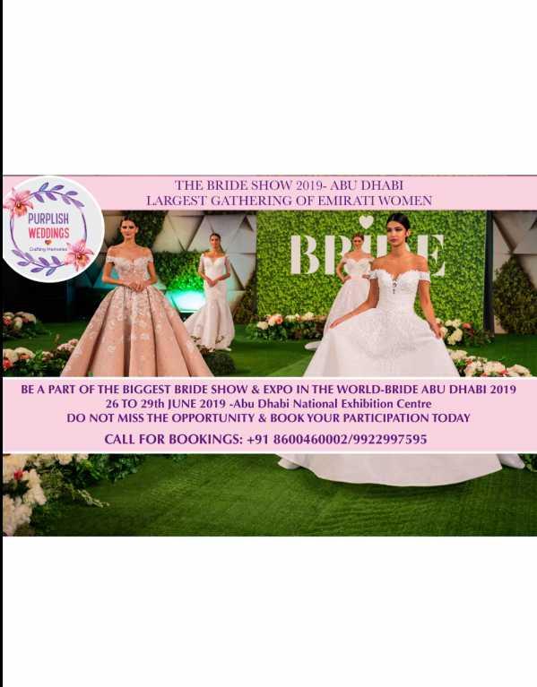 THE BRIDE SHOW ABU-DHABI 2019