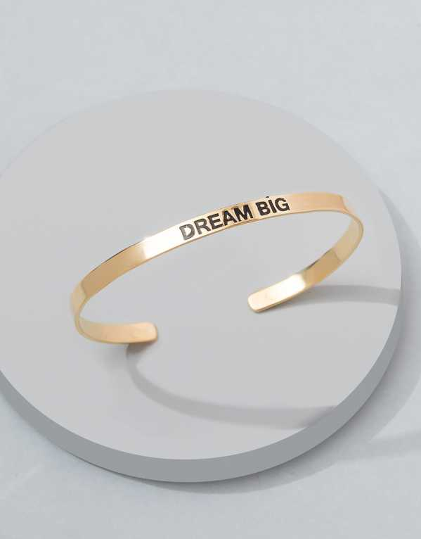 18k Gold Plated Dream Big Karma Bangle; Pipa+Bella; Rs.699